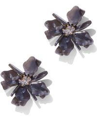 New York & Company - Sparkling Floral Post Earring - Lyst