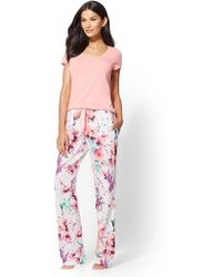 New York & Company - 2-piece Floral Pajama Set - Lyst
