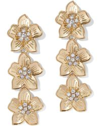 New York & Company - Sparkling Floral Drop Earring - Lyst