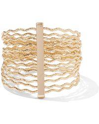 New York & Company - Zigzag Goldtone Bangle Bracelet - Lyst