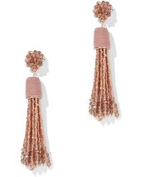 New York & Company - Beaded Tassel Drop Earring - Lyst