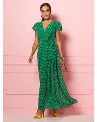62807bd43 New York & Company - Allison Dot-print Wrap Dress - Eva Mendes Party  Collection