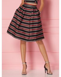 486b81ca6 New York & Company - Stripe Maddie Skirt - Eva Mendes Party Collection -  Lyst
