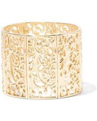 New York & Company - Polished Filigree Cuff Bracelet - Lyst