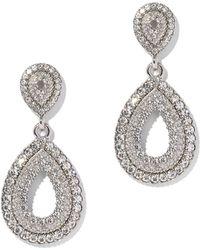 New York & Company - Sparkling Silvertone Drop Earring - Lyst