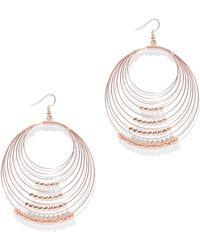 New York & Company - Multi-row Hoop Earring - Lyst