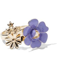 New York & Company - Eva Mendes Collection - Goldtone Floral Bracelet - Lyst