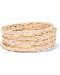 New York & Company - Goldtone Painted Stretch Bracelet - Lyst
