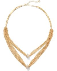 New York & Company - 2-row Layered Mesh Necklace - Lyst