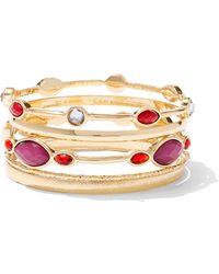 New York & Company - 5-piece Goldtone Bangle Bracelet Set - Lyst