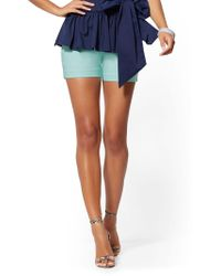 233a247c01 Free People Newman Stripe Shorts in Gray - Lyst