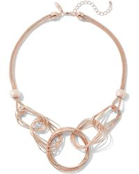 New York & Company - Goldtone Link Statement Necklace - Lyst