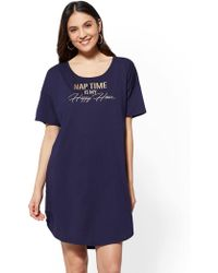 "New York & Company - ""nap Time Is My Happy Hour"" Sleep Tee - Lyst"