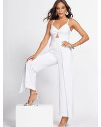 446e8d76ceb6 New York & Company - White Overlay Jumpsuit - Gabrielle Union Collection -  Lyst