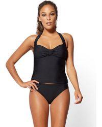 New York & Company - Ny&c Swimwear - Ruching Halter Tankini - Lyst