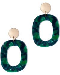 New York & Company - Open Square Drop Earring - Lyst
