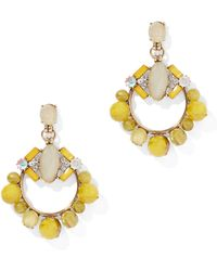 New York & Company - Faux-stone Circular Drop Earring - Lyst