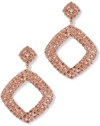 New York & Company - Multicolor Faux-stone Square Drop Earring - Lyst