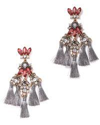 New York & Company - Sparkling Tassel Drop Earring - Lyst