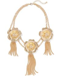 New York & Company - Eva Mendes Collection - Floral & Tassel Statement Necklace - Lyst