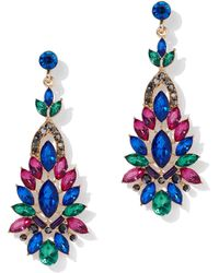 New York & Company - Multicolor Faux-stone Statement Drop Earring - Lyst