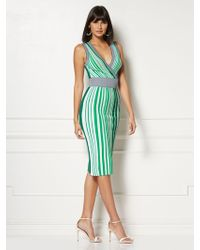 New York & Company - Felicia Stripe Sweater Dress - Eva Mendes Collection - Lyst