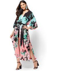 New York & Company - 7th Avenue - Floral Kimono Robe - Lyst