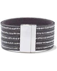 New York & Company - Gunmetal Link Cuff Bracelet - Lyst