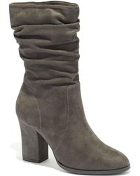 New York & Company - Faux-suede Scrunch Bootie - Lyst