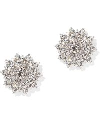 New York & Company - Sparkling Silvertone Post Earring - Lyst