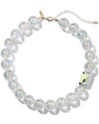 New York & Company - Goldtone Beaded Collar Necklace - Lyst