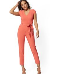 cde7f1150e73 New York   Company - Cap-sleeve Madie Jumpsuit - 7th Avenue - Lyst