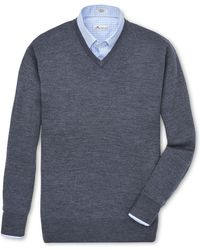 Peter Millar - Crown Soft Merino V Neck Sweater - Lyst