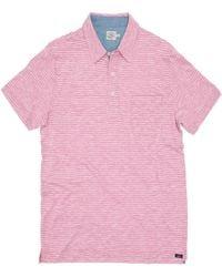 Faherty Brand - Heather Polo Shirt - Lyst