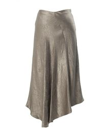 Vince - Bias-cut Asymmetric Midi Skirt - Lyst