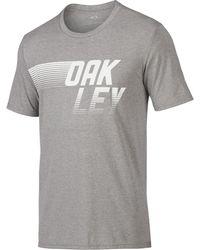 0c45340ac1e79b Oakley - Athletic Heather Grey 50 50 Dash Tee - Lyst