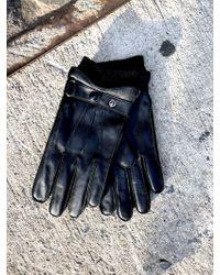 OAK - Rib Cuff Leather Glove - Lyst