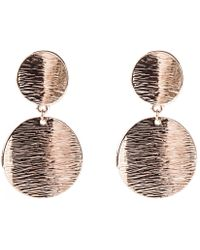 Oasis - Double Textured Disc Earrings - Lyst
