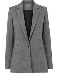 Oasis Puppytooth Ponte Jacket - Gray