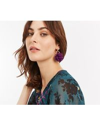Oasis - Pom Pom Flower Earrings - Lyst