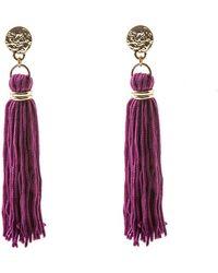 Oasis - Elegant Tassel Drop Earrings - Lyst