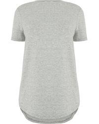 Oasis Dipped Hem T-shirt