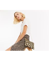 Oasis - Leather Leoni Leopard Clutch - Lyst