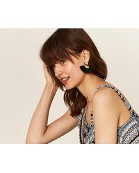 Oasis - Diamante Top Tassel Earrings - Lyst