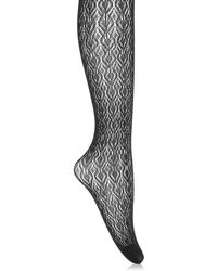Oasis - Lace Tights - Black - Lyst