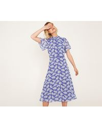 Oasis - Long Provence Ditsy Dress - Lyst