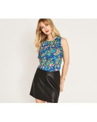 Oasis - Painted Posy Shell Top - Lyst