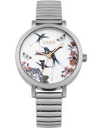 Oasis - Silver Expander Bracelet Watch - Lyst