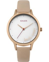 Oasis - Glossy White Dial Watch - Lyst