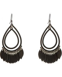 Oasis - Teardrop Shard Earrings - Lyst